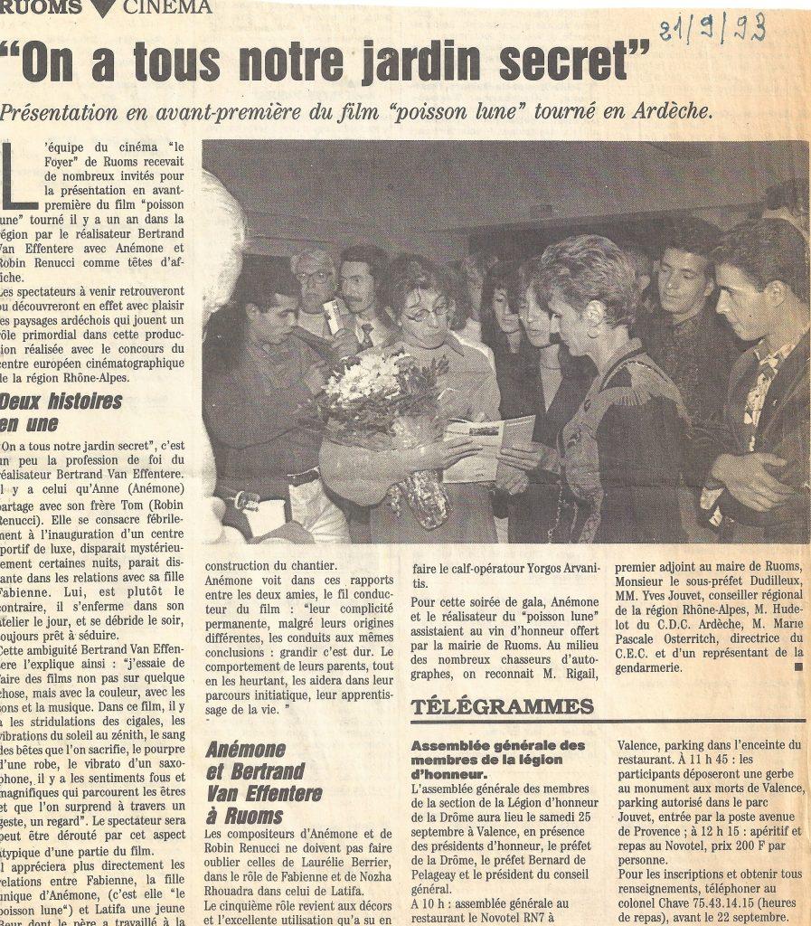 """Avant Première du Film """"Poisson Rouge"""" avec Anémone."""