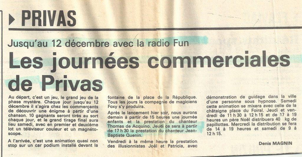 Journées Commerciales de PRIVAS animées par FUN Radio