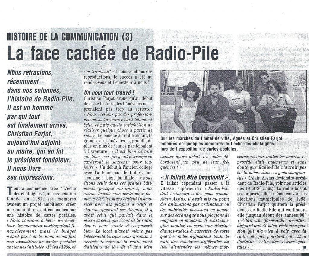 La face cachée de Radio Pile. DL du 20/08/2005