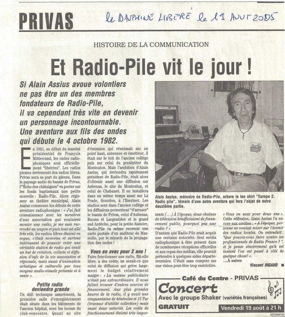 Et Radio Pile vit le jour ! DL du 19/08/2005.