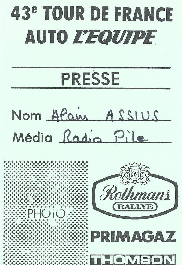"""Radio PILE, Cartes d""""accréditation"""