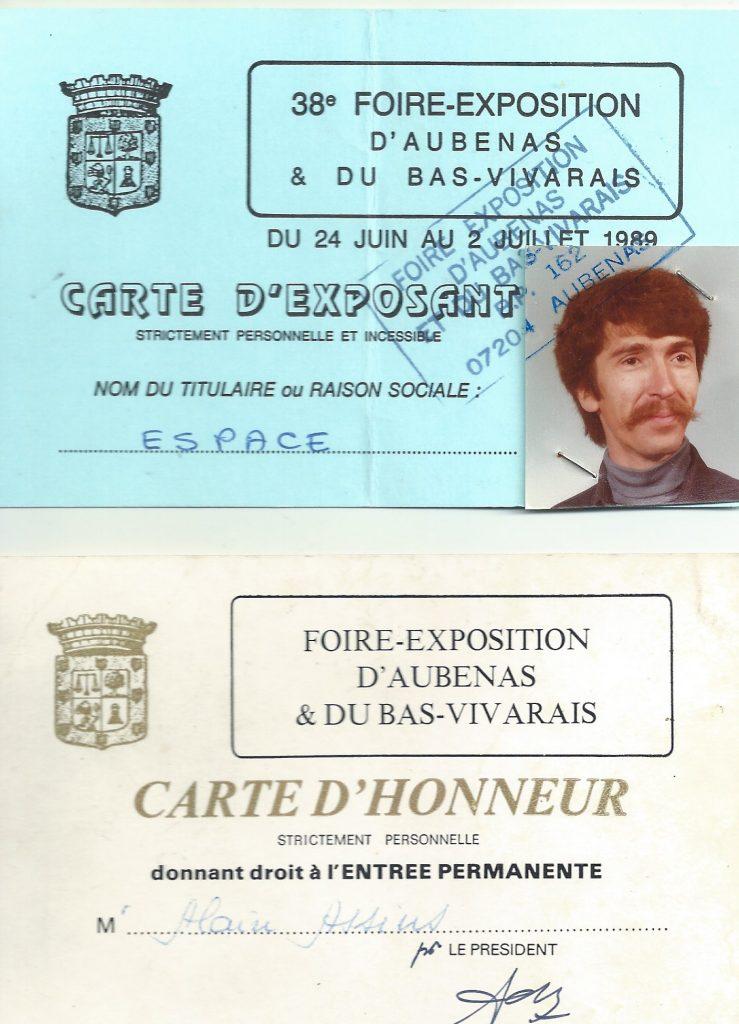 Radio PILE et la Foire dAUBENAS Carte dHonneur !