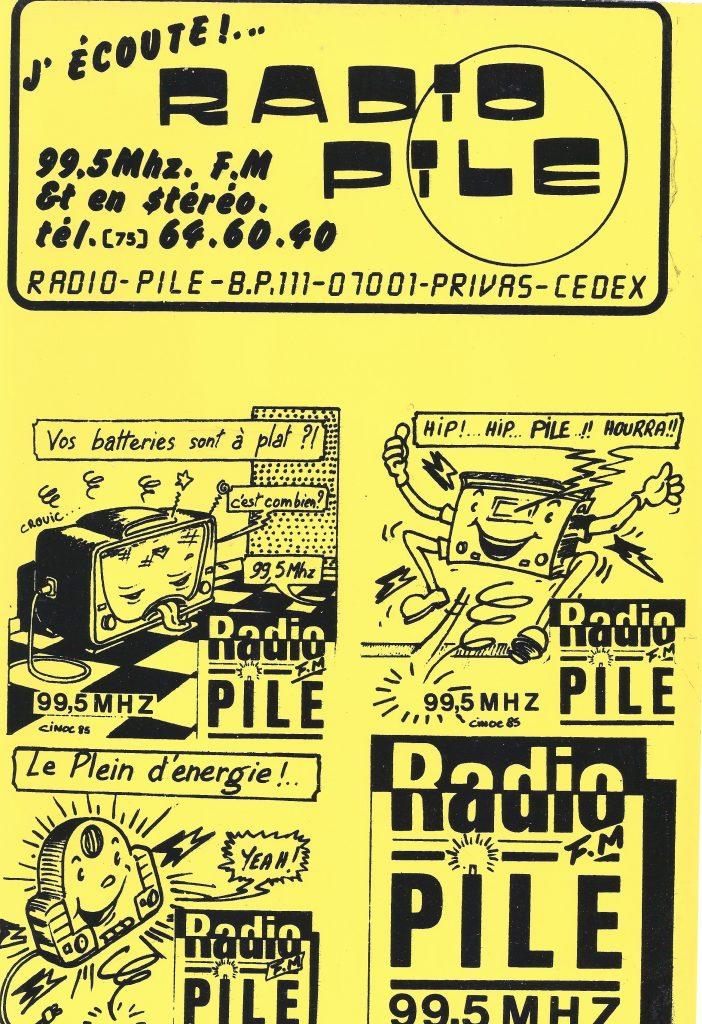 Planche autocollants Radio PILE