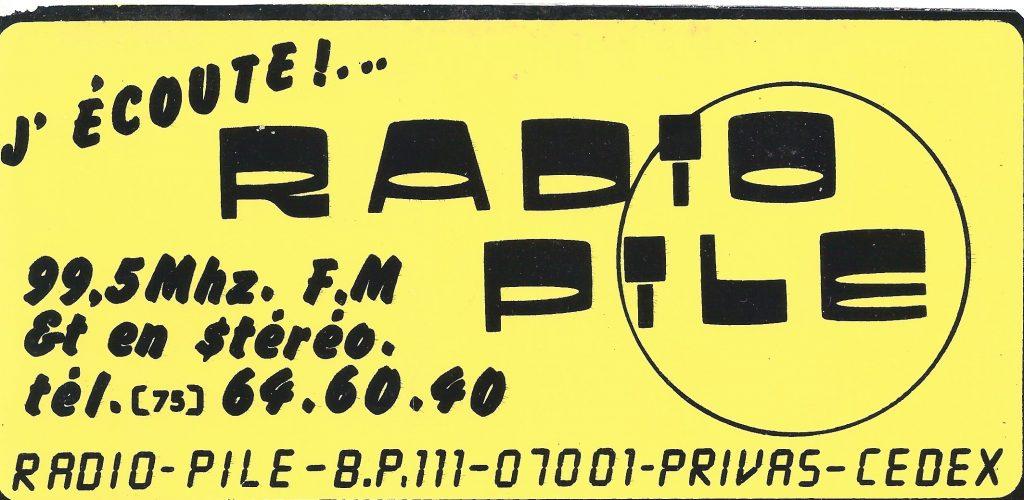 Autocollant Radio PILE