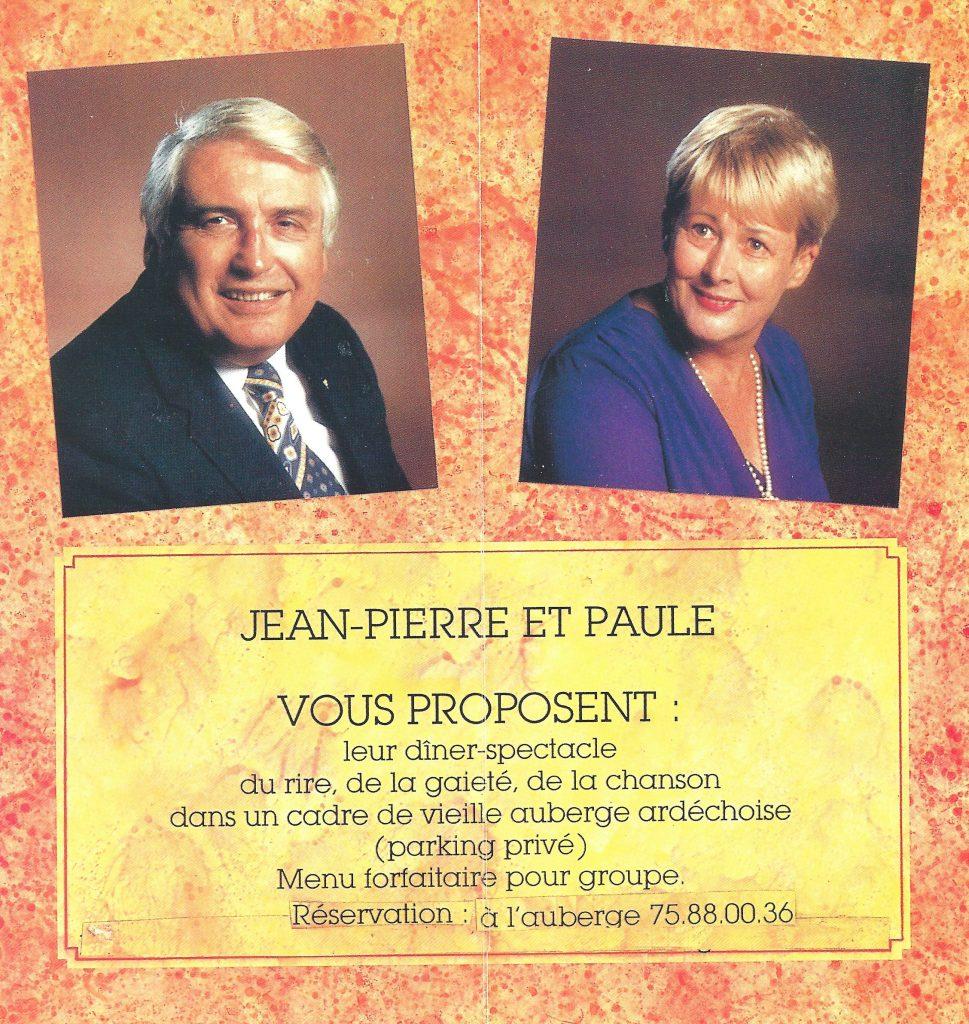 """Paule AMY et Jean-Pierre RIVIERE dans leur """"Auberge Dingue"""""""