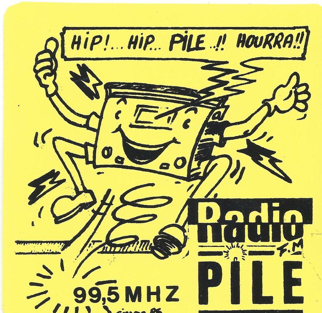 "Autocollant Radio PILE ""Hip ! Hip ! Pile ! Hourra"""