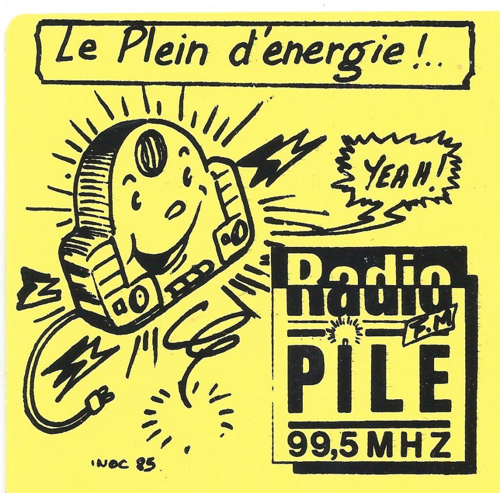 "Autocollant Radio PILE ""le plein d""energie"""
