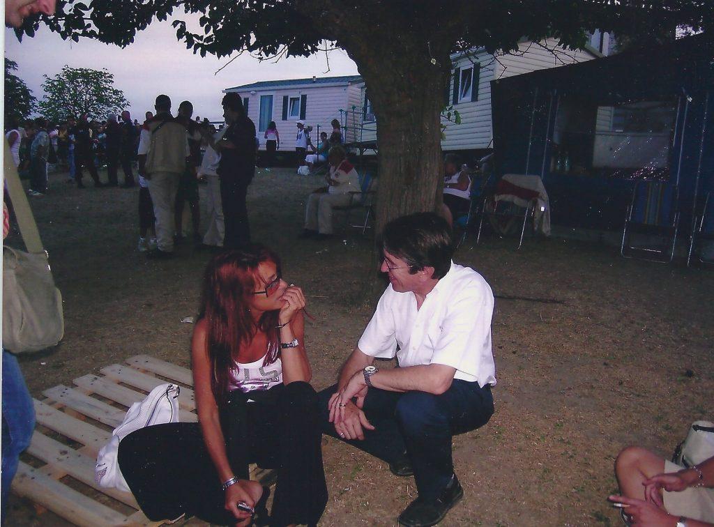 Retrouvailles avec Julie PIETRI le 8 aout 2004 pour la fête des Vignerons à RUOMS