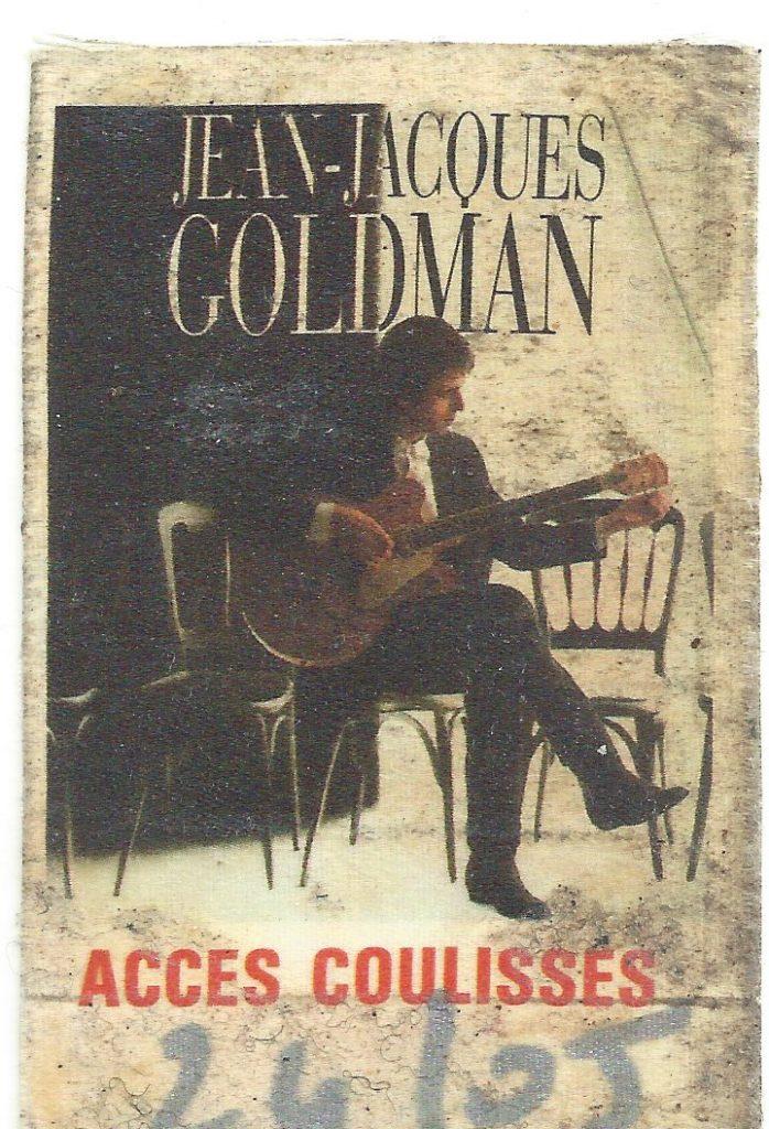 Backtage concert Goldman